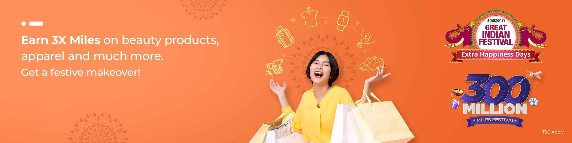 Earn Miles during Amazon Great India Festival