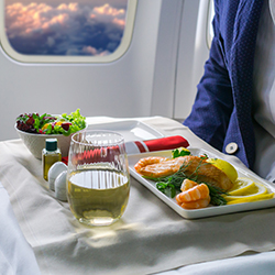 Airline-centric dining programs