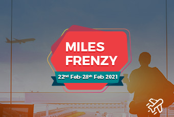 Earn 2X Miles + get up to Rs. 750 off on flights